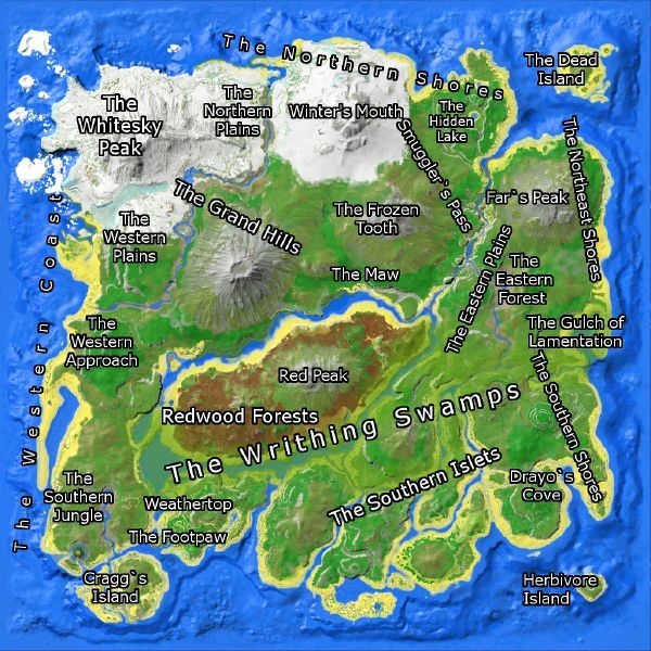 The islands in Ark Survival Evolved